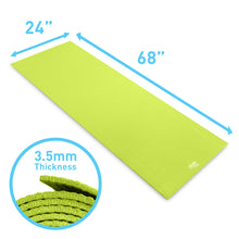 Load image into Gallery viewer, Pure Fitness 3.5mm Non-Slip Yoga Mat with Carry Strap - Lime - Pure Fun