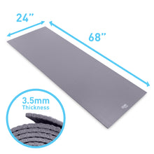 Load image into Gallery viewer, Pure Fitness 3.5mm Non-Slip Yoga Mat with Carry Strap - Charcoal - Pure Fun