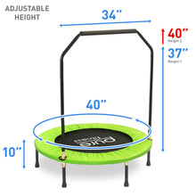 Load image into Gallery viewer, Pure Fitness 40-inch Exercise Trampoline with Handrail - Pure Fun