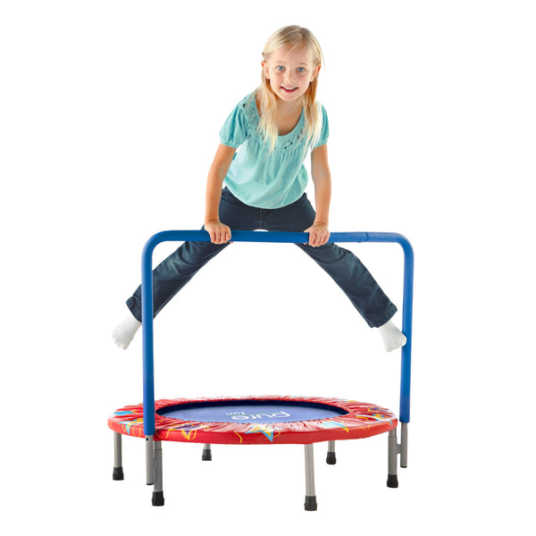 Kid Trampoline Lafayette: Pure Fun 36-inch Kids Mini Trampoline With Handrail