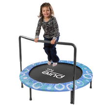 Load image into Gallery viewer, Pure Fun 48-inch Super Jumper Kids Trampoline with Handrail - Blue - Pure Fun