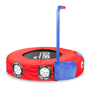 Pure Fun 36-inch Race Car Plush Jumper Kids Trampoline with Handrail - Pure Fun