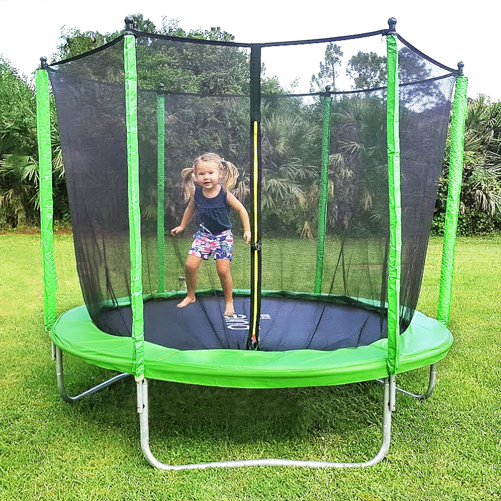 Dura Bounce Outdoor Trampoline With Enclosure, 8-Foot