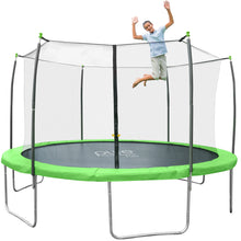 Load image into Gallery viewer, Pure Fun Dura-Bounce Outdoor Trampoline with Enclosure, 12-Foot - Pure Fun