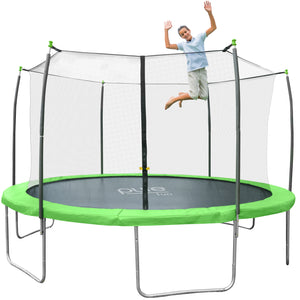 Pure Fun Dura-Bounce Outdoor Trampoline with Enclosure, 12-Foot - Pure Fun