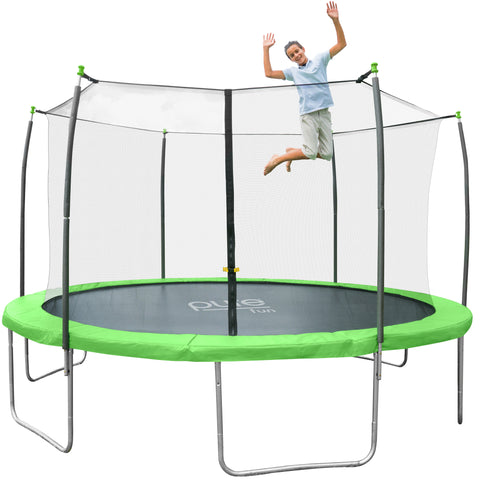 Dura-Bounce Outdoor Trampoline with Enclosure, 12-Foot - Pure Fun