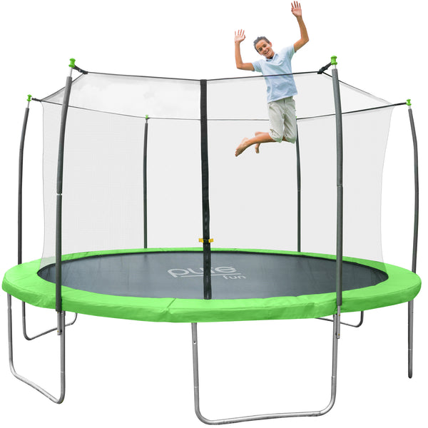 14ft Trampoline Net Mat 150 72 Rings For Bouncepro: Pure Fun Dura-Bounce 12ft Trampoline With Enclosure