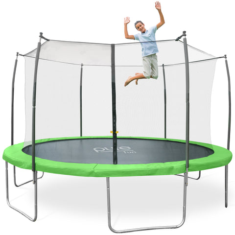 Dura-Bounce Outdoor Trampoline with Enclosure, 14-Foot - Pure Fun