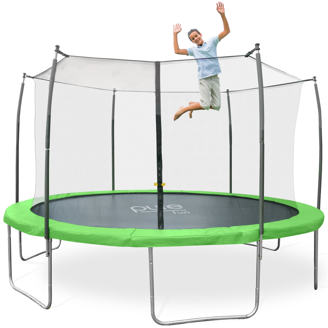 Pure Fun Dura-Bounce Outdoor Trampoline with Enclosure, 14-Foot - Pure Fun