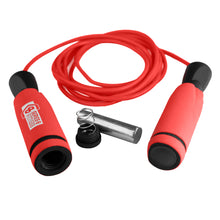 Load image into Gallery viewer, Pure Fitness 9 Foot Weighted Jump Rope Red - Pure Fun