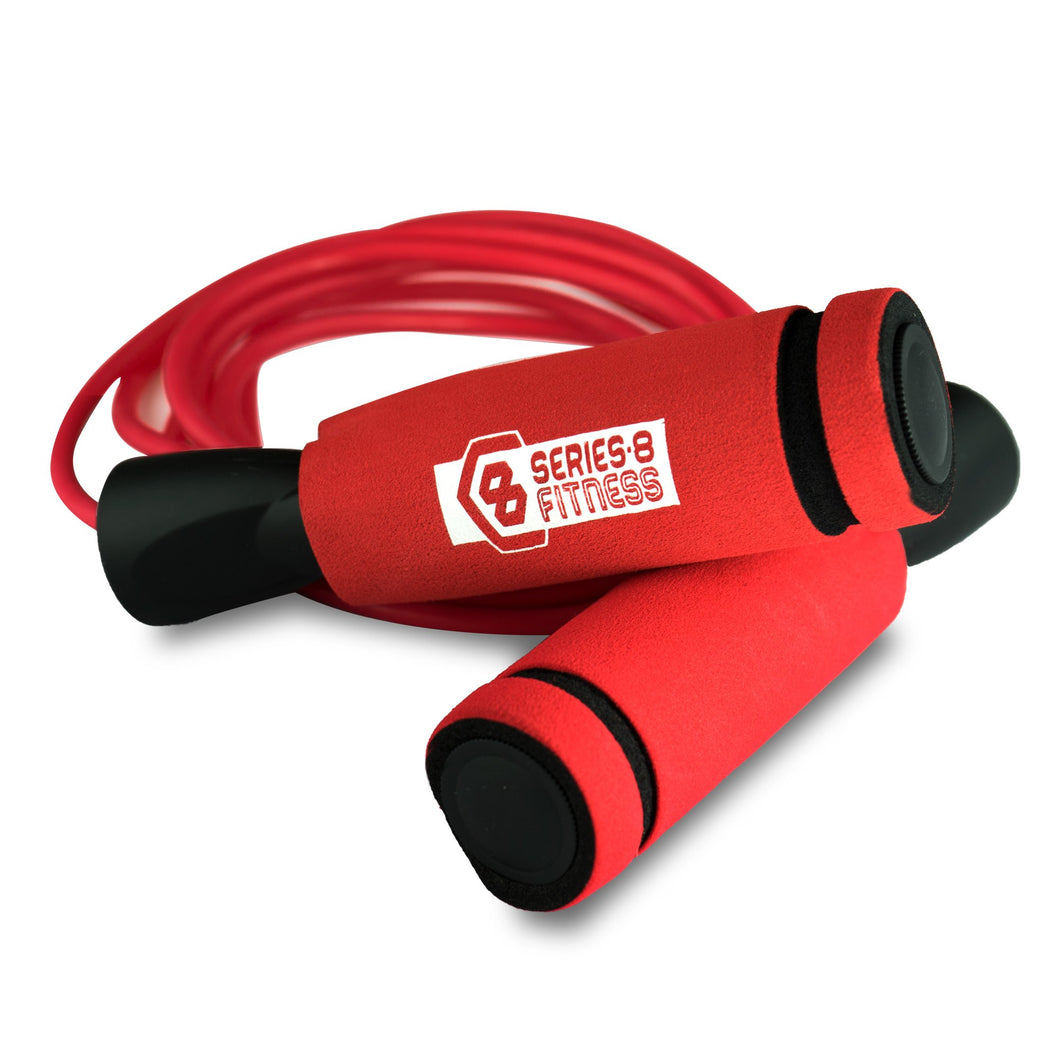 Pure Fitness 9 Foot Weighted Jump Rope Red - Pure Fun