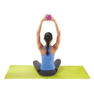 "Pure Fitness 4.5"" Diameter Hand Held 2lb Weighted Pilates Ball - Pure Fun"