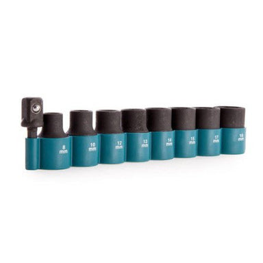 MAKITA (9PC) METRIC IMPACT SOCKET SET - 1/2 DRIVE B-54645