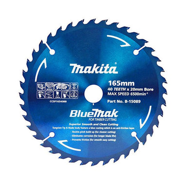 MAKITA BLUEMAK TCT SAW BLADE 160mm x 20mm x 20T - (5PK) B-15095-5