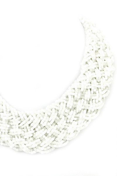 Santorini Beaded Braid Necklace