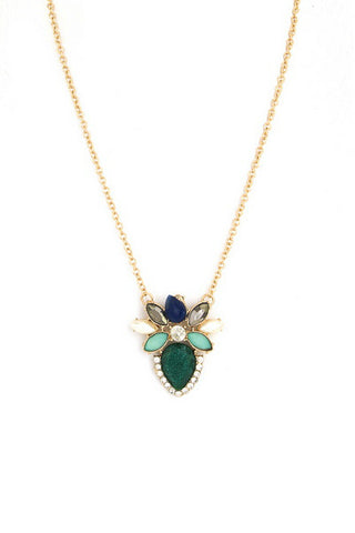 Jezebel Teardrop Pendant - Green