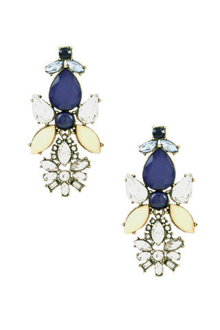Sapphire and Honey Bauble Earrings