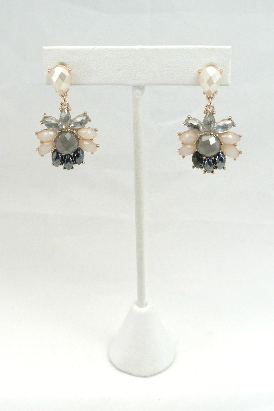 Heather Grey Jewel Drops