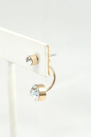 Double Time Crystal Ear Jackets - Gold