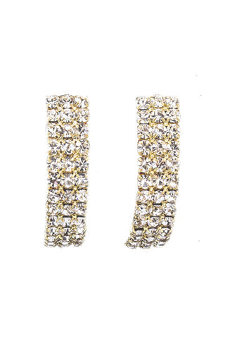 Crystal Strip Earrings