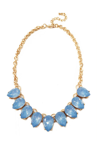 Blue Teardrop Necklace Set