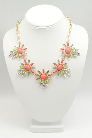 Pink Constantia Bib Necklace