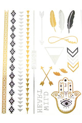 Serenity Metallic Tattoo Set