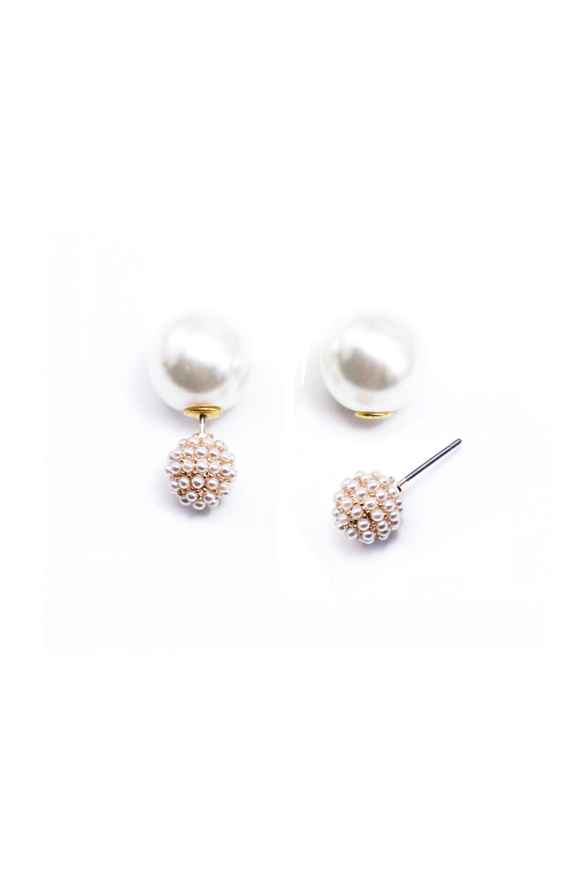 Pearl Orb Double Sided Studs
