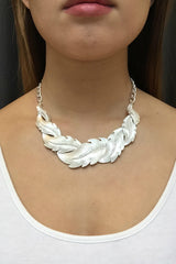 Silver Wreath Bib Set