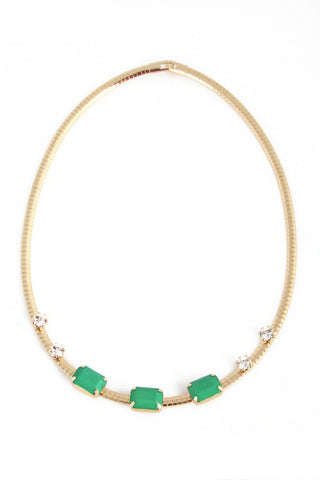 Gemma Choker Necklace - Green