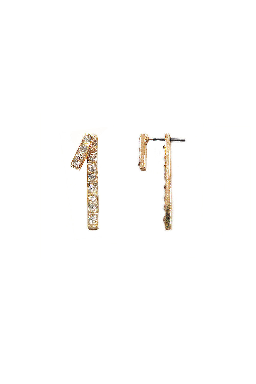 Double Crystal Bar Earrings