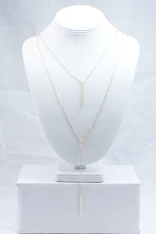 Gold Bar Layered Necklace