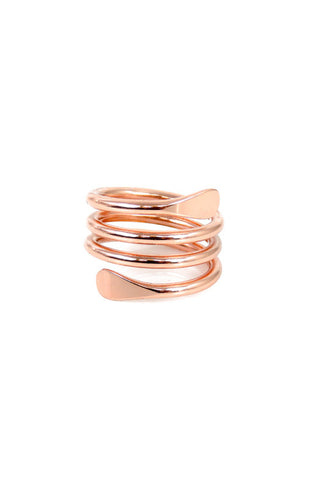 Rose Gold Twirl Ring