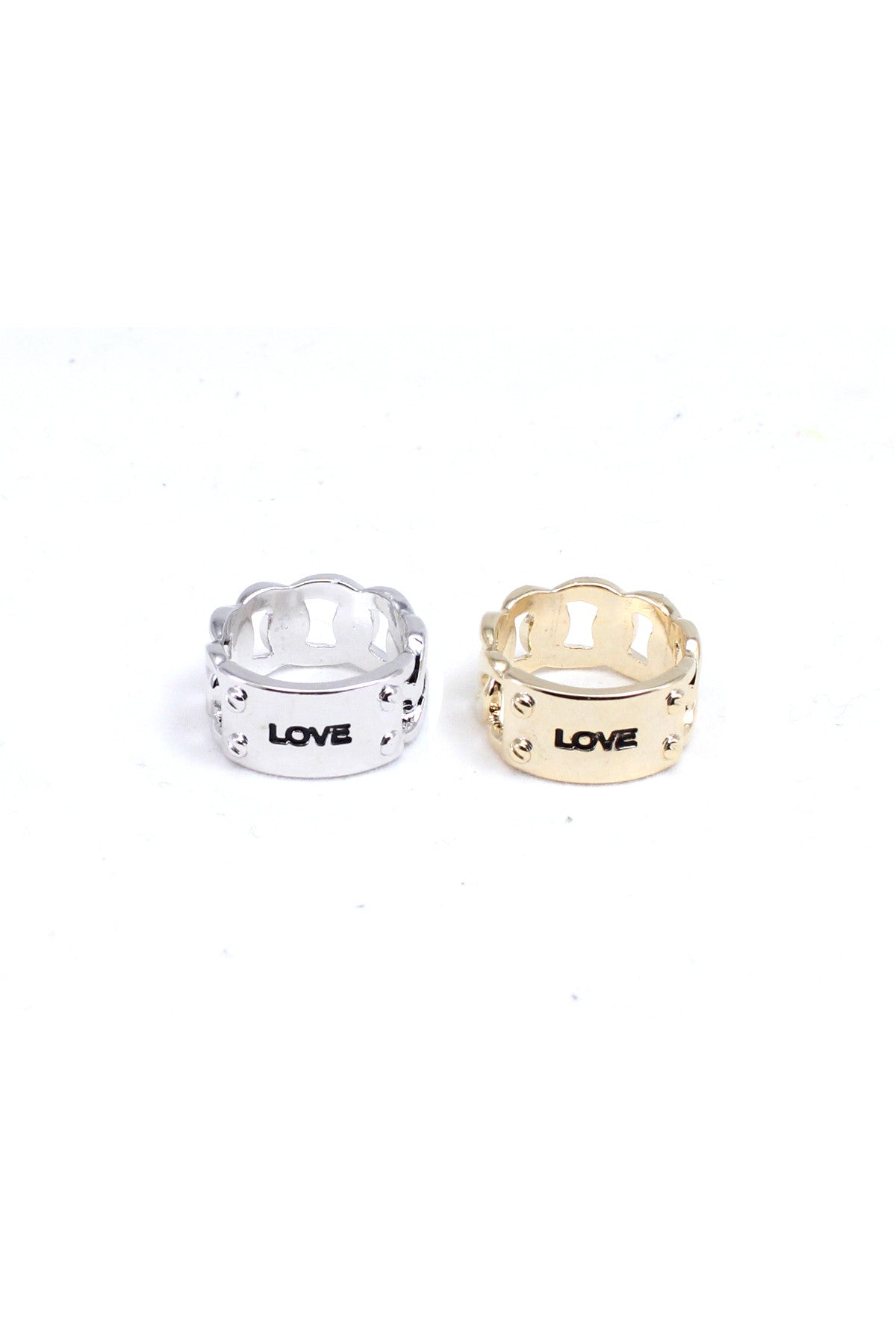 Love Tag Midi Ring