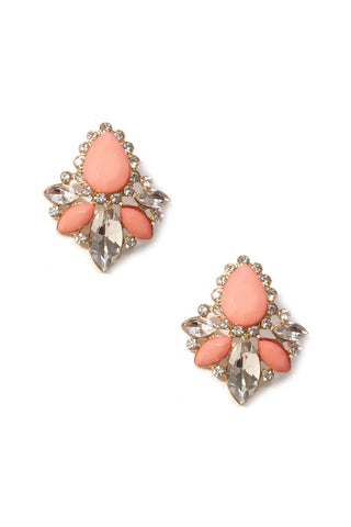 Peach Mimosa Earrings