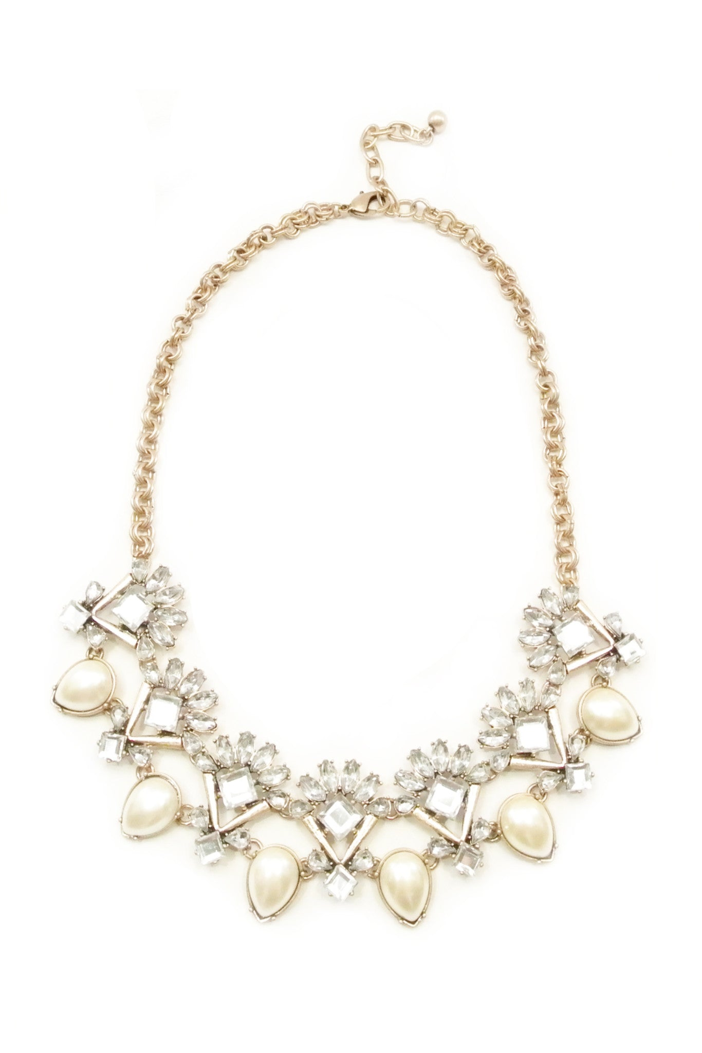 Vintage Crystal Pearl Necklace