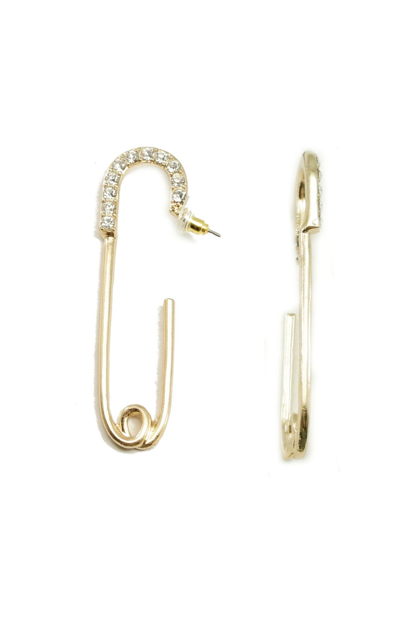 Safety Pin Crystal Drops
