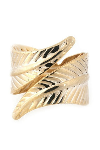 Leaf Textured Wrap Ring