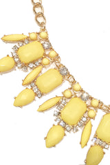 Sunflower Gemmed Necklace Set