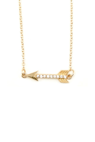 Arrow to my Heart Necklace - Gold