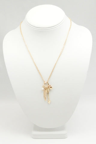 Feather Arrow Chain Necklace