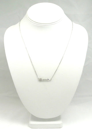 Arrow to my Heart Necklace - Silver