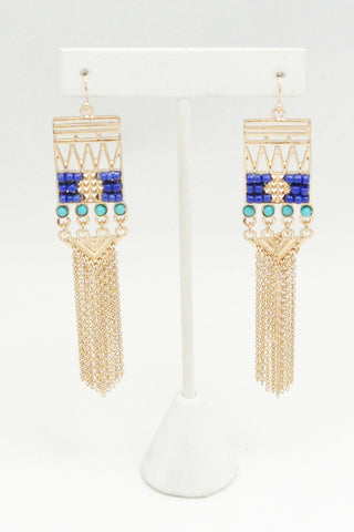 Aztec Fringe Earrings