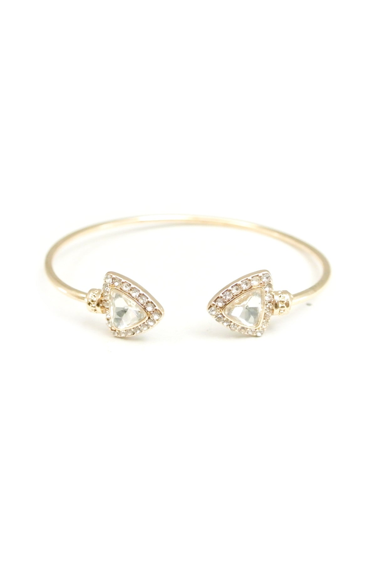 Angular Crystal Cuff - Gold
