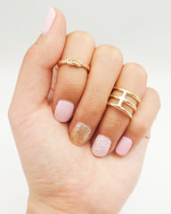 Triple Layer Midi Ring