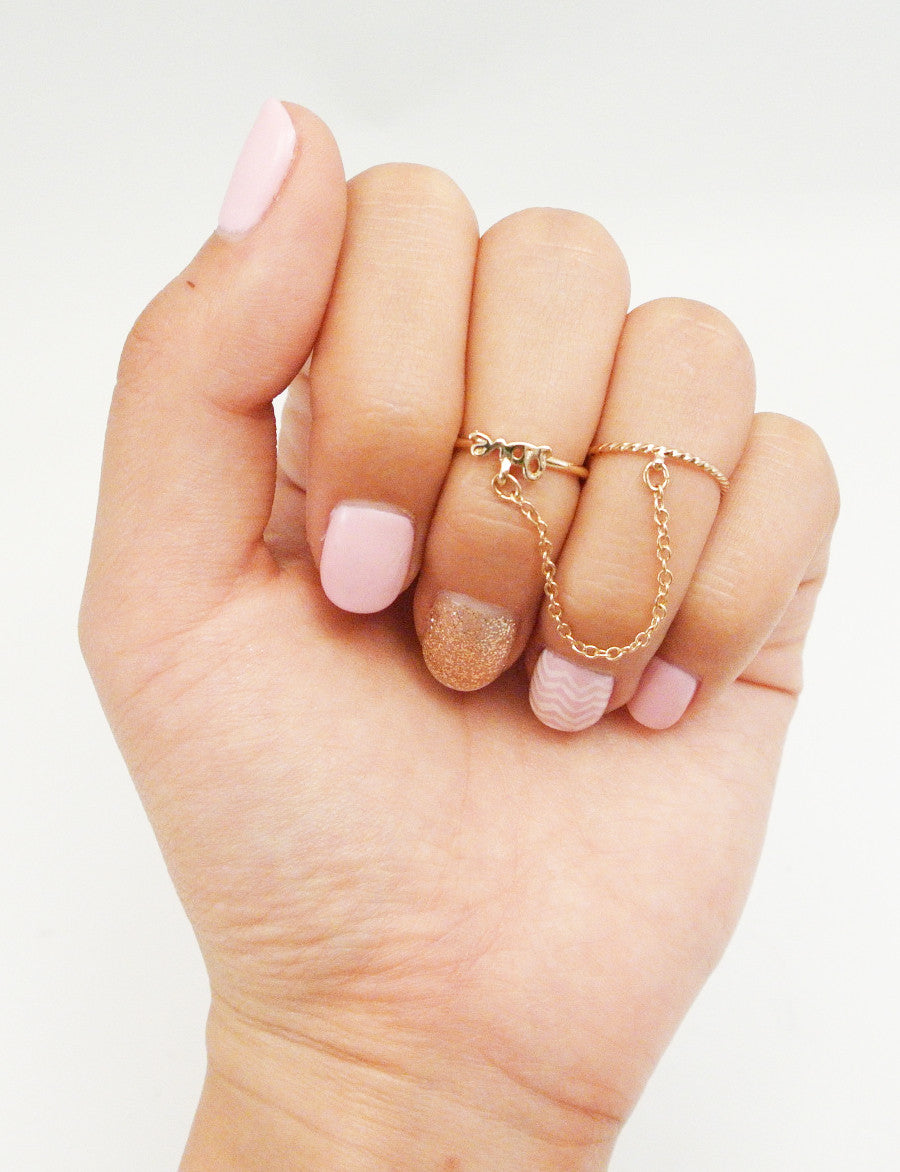Chain Me Up Midi Ring - Love