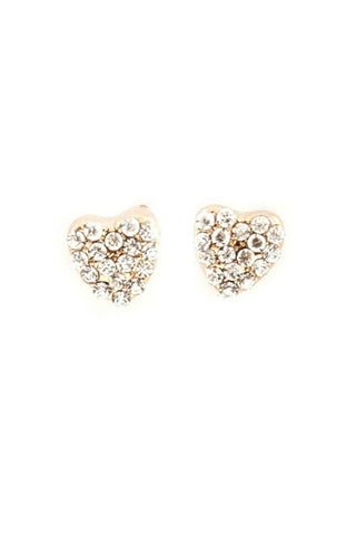 Chic Crystal Heart Earrings