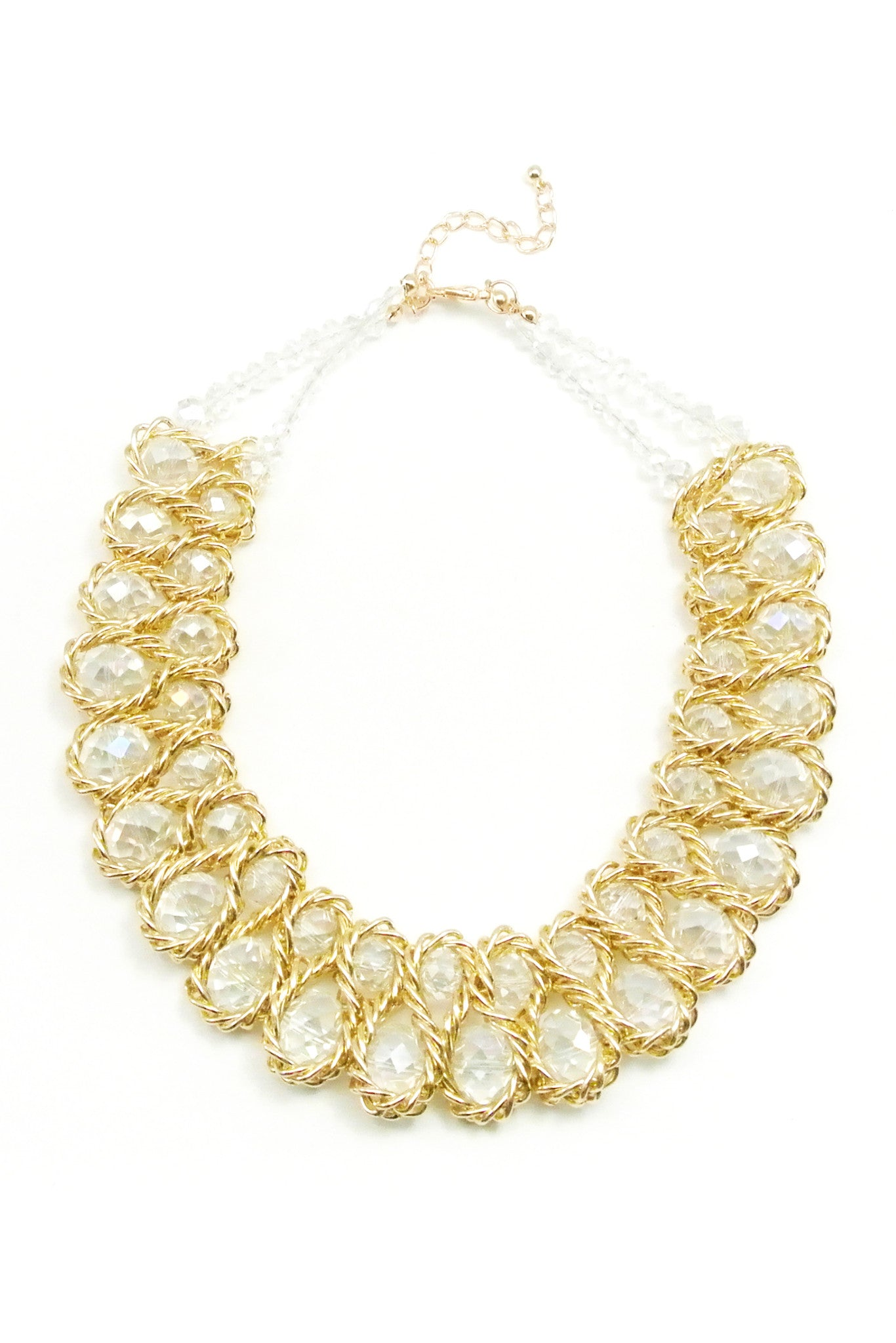 Twisted Caramel Collar - Clear