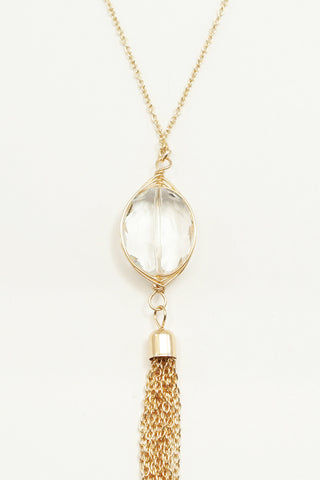 Cyress Tassel Necklace