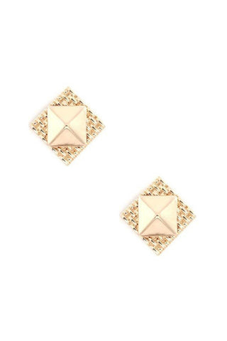 Cross Stitch Rocker Studs
